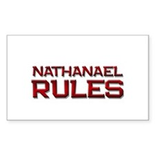 nathanael rules Rectangle Decal