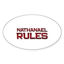 nathanael rules Oval Decal