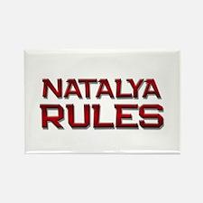 natalya rules Rectangle Magnet