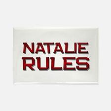 natalie rules Rectangle Magnet