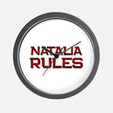 natalia rules Wall Clock