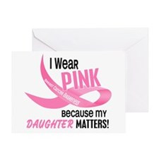 I Wear Pink For My Daughter 33.2 Greeting Card