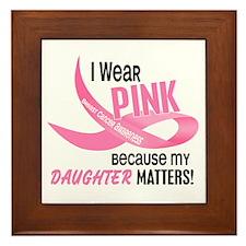 I Wear Pink For My Daughter 33.2 Framed Tile