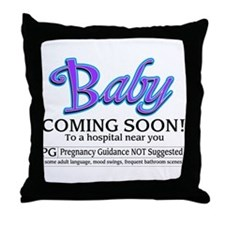 Baby - Coming Soon! Throw Pillow