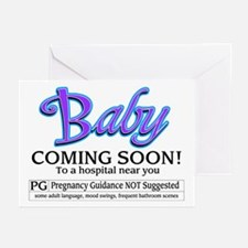 Baby - Coming Soon! Greeting Cards (Pk of 10)
