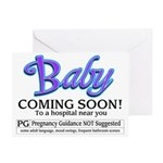 Baby - Coming Soon! Greeting Cards (Pk of 20)