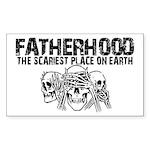Scariest Place on Earth - Fatherhood Sticker (Rect