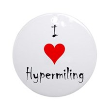 Round Ornament- I love hypermiling