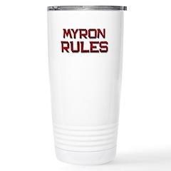 myron rules Travel Mug