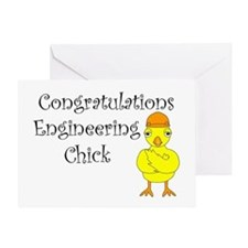 Engineering Chick Graduation Greeting Card