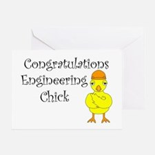 Engineering Chick Graduation Greeting Card