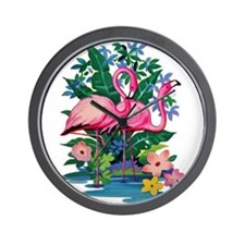 RETRO FLAMINGO Wall Clock