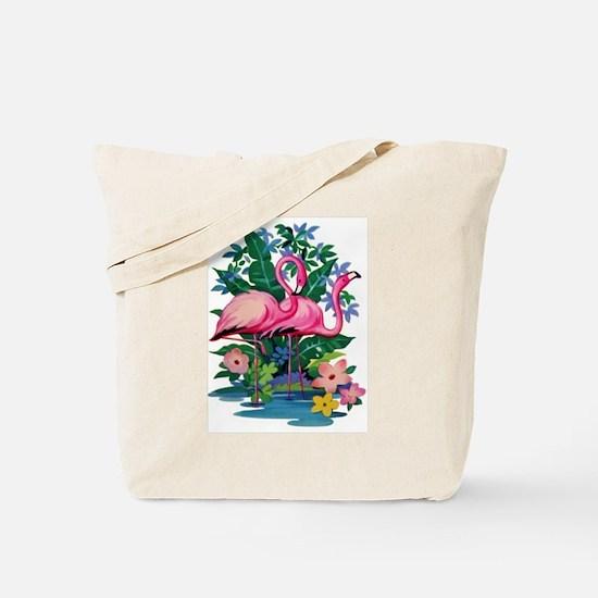 RETRO FLAMINGO Tote Bag