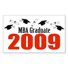 MBA Graduate 2009 (Red Caps And Diplomas) Decal