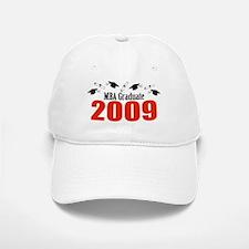 MBA Graduate 2009 (Red Baseball Baseball Caps And Diplomas) Baseball Baseball Cap