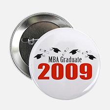 """MBA Graduate 2009 (Red Caps And Diplomas) 2.25"""" Bu"""