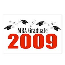 MBA Graduate 2009 (Red Caps And Diplomas) Postcard