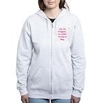 Pregnant w/ Girl due May Women's Zip Hoodie