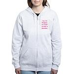 Pregnant w/ Girl due December Women's Zip Hoodie