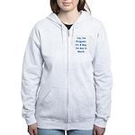 Pregnant w/ Boy due March Women's Zip Hoodie