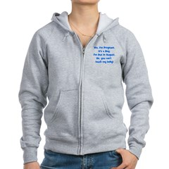 Pregnant Boy due August Belly Zip Hoodie