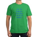 Pregnant w/ Boy due October Men's Fitted T-Shirt (