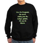 Pregnant - Suprise - March Sweatshirt (dark)