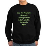 Pregnant - Suprise - April Sweatshirt (dark)