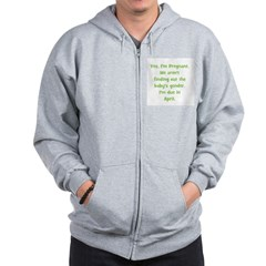 Pregnant - Suprise - April Zip Hoodie