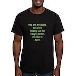 Pregnant - Suprise - April Men's Fitted T-Shirt (d