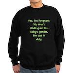 Pregnant - Suprise - July Sweatshirt (dark)