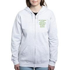 Pregnant - Suprise - Septembe Zip Hoodie
