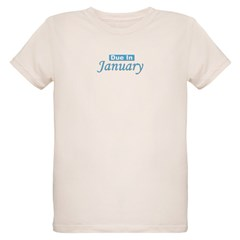 Due In January - Blue Organic Kids T-Shirt