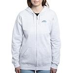 Due In January - Blue Women's Zip Hoodie