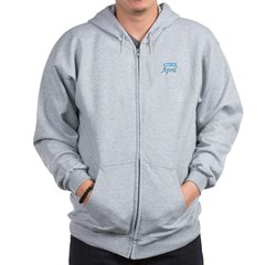 Due In April - blue Zip Hoodie