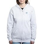 Due In May - Blue Women's Zip Hoodie