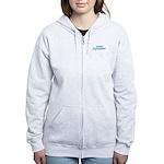 Due In October - Blue Women's Zip Hoodie