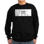 Due In May black Sweatshirt (dark)