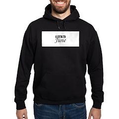 Due In June - Black Hoodie (dark)