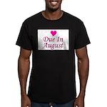 Due In August Men's Fitted T-Shirt (dark)