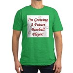 Growing A Future Baseball Pla Men's Fitted T-Shirt