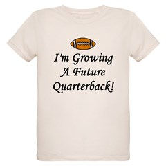 Growing A Future Quarterback Organic Kids T-Shirt