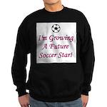 Future Soccer Star - Pink Sweatshirt (dark)