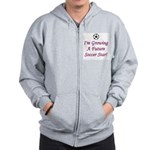 Future Soccer Star - Pink Zip Hoodie