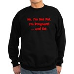 Not Fat - Pregnant - Red Sweatshirt (dark)