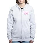 No, I'm Not Fat! (pink) Women's Zip Hoodie