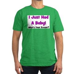 I Just Had A Baby! Men's Fitted T-Shirt (dark)