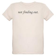 Not Finding Out Organic Kids T-Shirt