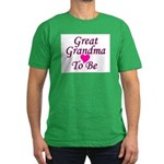 Great Grandma To Be Men's Fitted T-Shirt (dark)