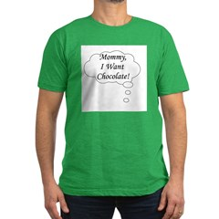 Mommy I Want Chocolate Men's Fitted T-Shirt (dark)